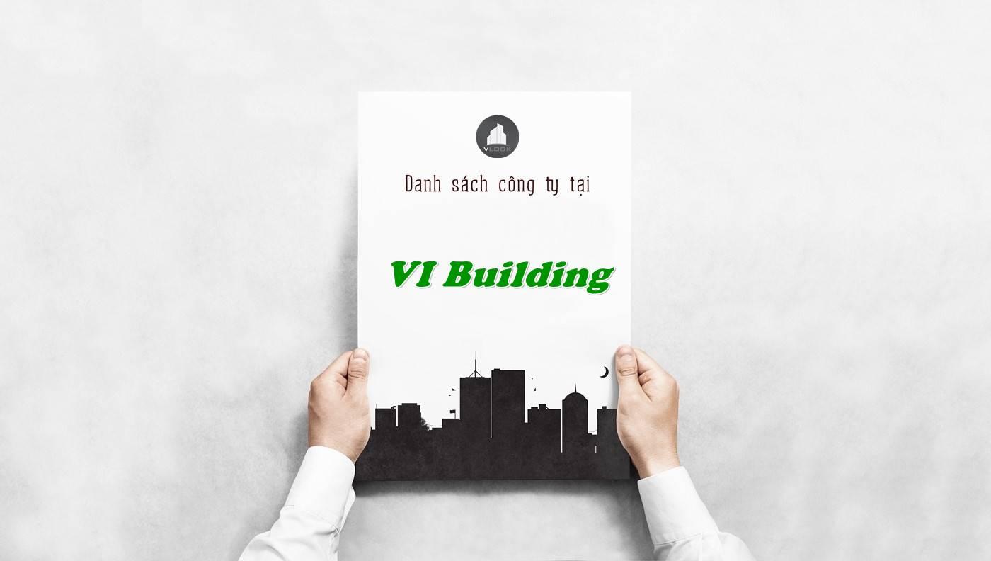 Danh sách công ty thuê văn phòng tại VI Building, Quận 5