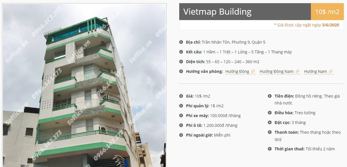 Danh sách công ty thuê văn phòng tại Vietmap Building, Quận 5