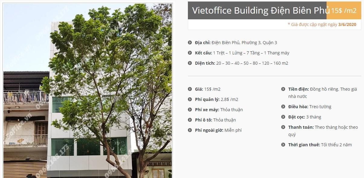 Danh sách công ty tại tòa nhà Vietoffice Building Điện Biên Phủ, Quận 3