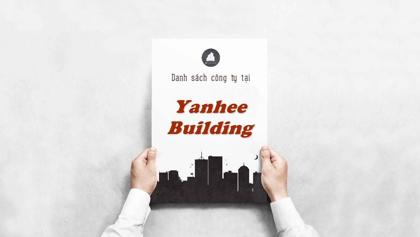 Danh sách công ty thuê văn phòng tại Yanhee Building, Quận 5