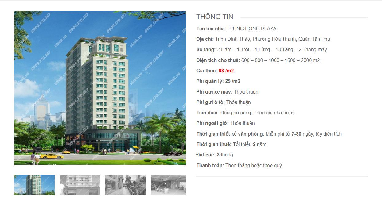 Danh sách công ty tại tòa nhà Trung Đông Plaza, Trịnh Đình Thảo, Quận Tân Phú - vlook.vn