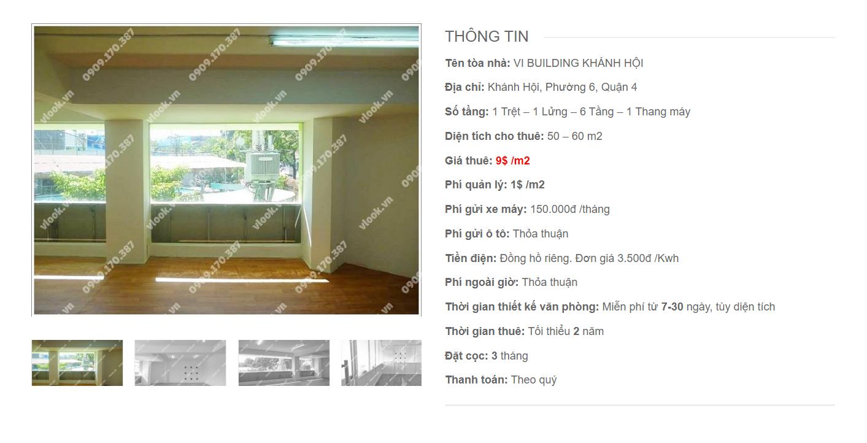 Danh sách công ty tại tòa nhà VI Buiding Khánh Hội, Quận 4