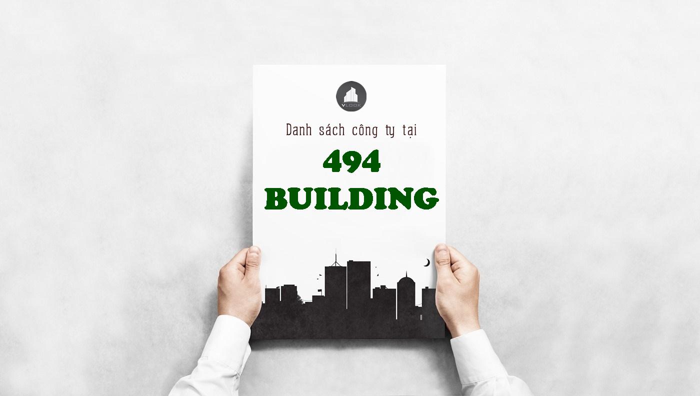 Danh sách công ty tại tòa nhà 494 Building, Quận 9