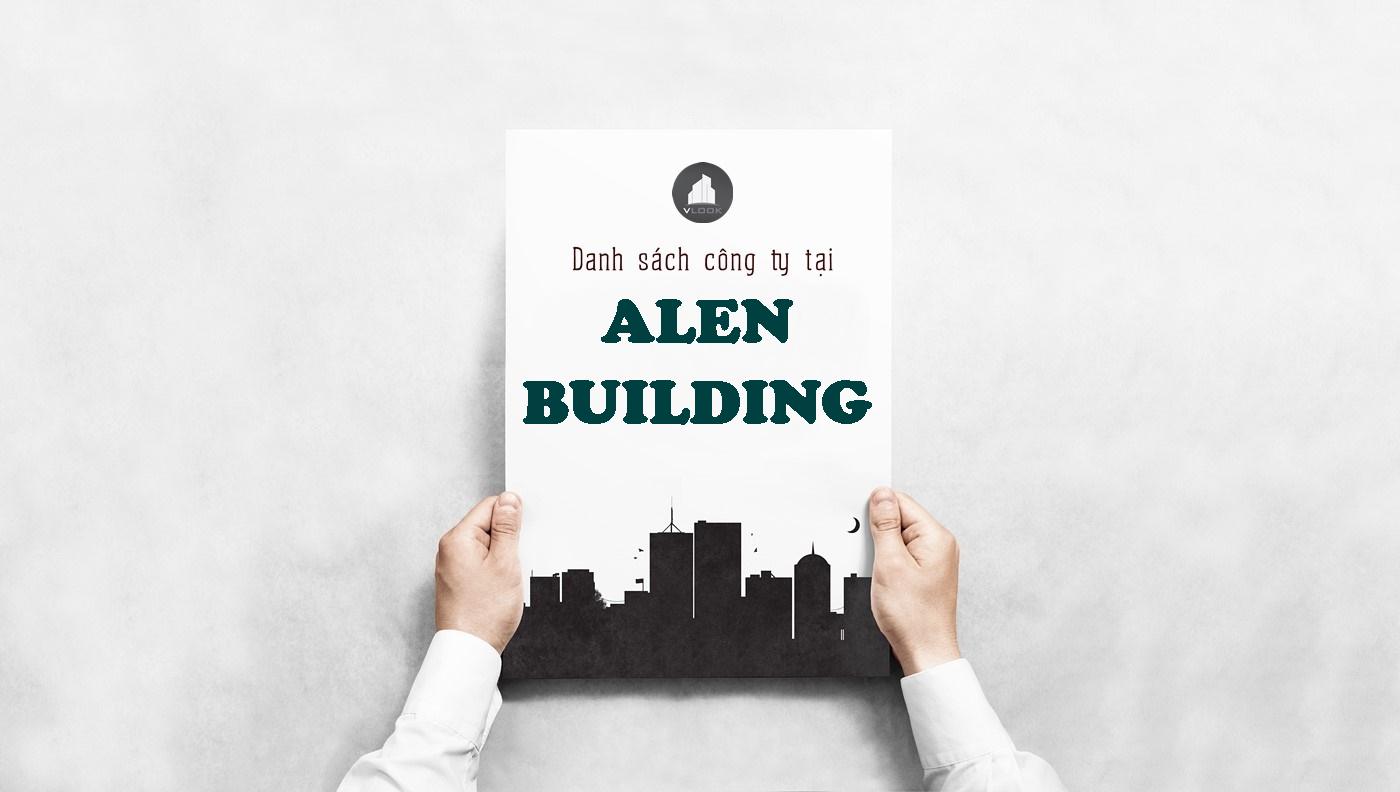 Danh sách công ty tại tòa nhà Alen Building, Hồ Văn Huê Quận Phú Nhuận