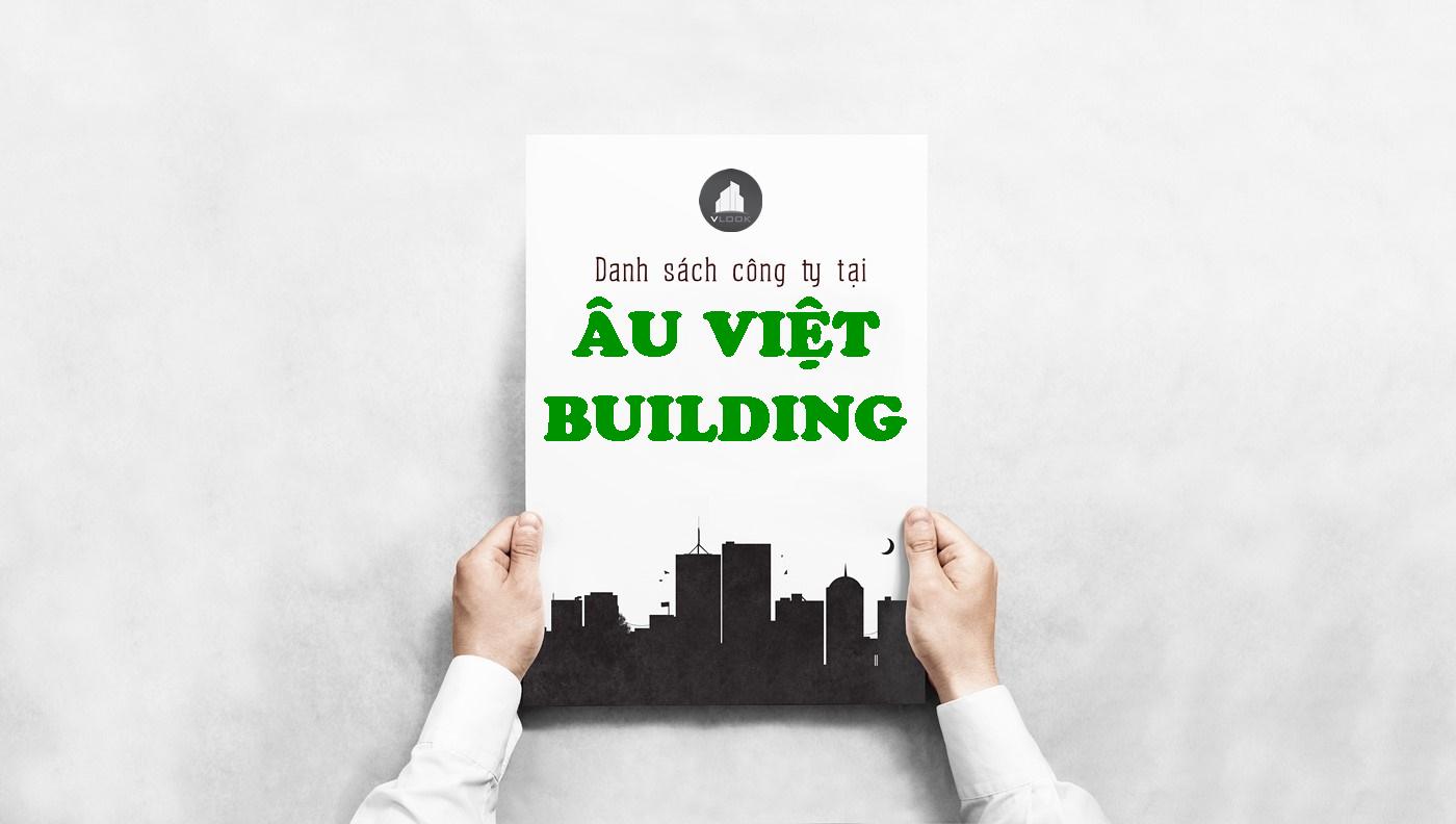 Danh sách công ty tại tòa nhà Âu Việt Building, Trương Quốc Dung, Quận Phú Nhuận
