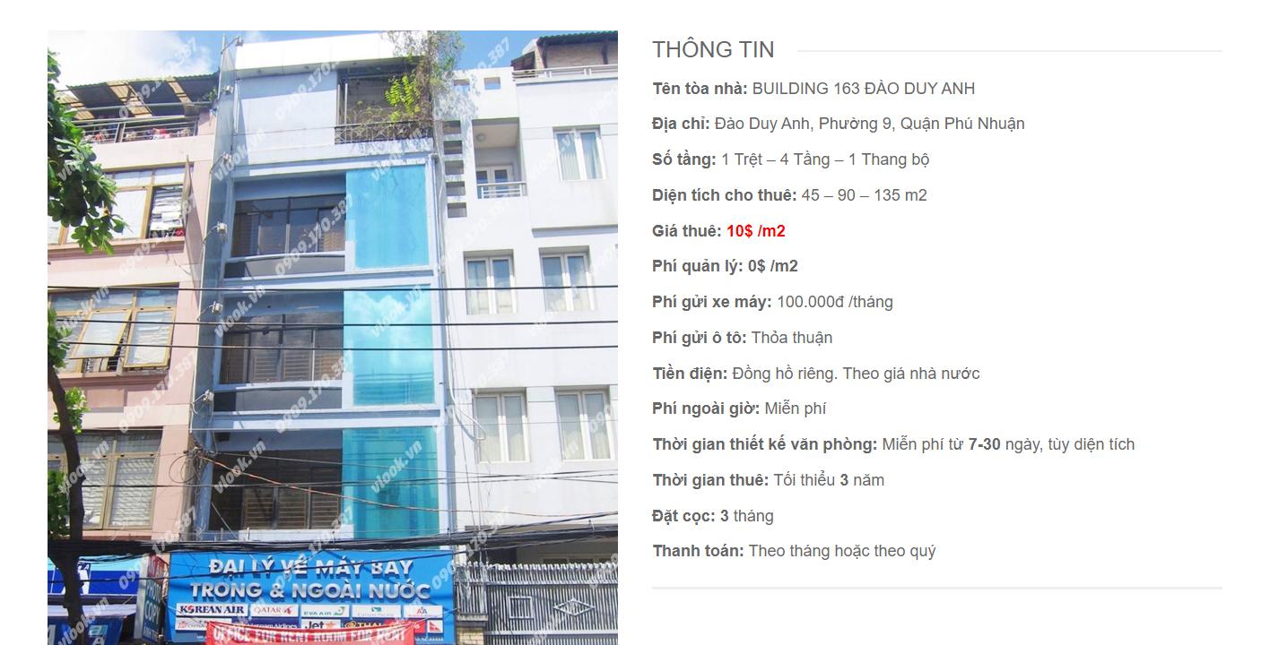 Danh sách công ty tại tòa nhà Building 163, Đào Duy Anh, Quận Phú Nhuận