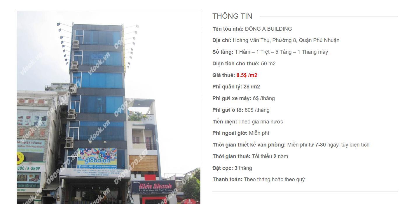 Danh sách công ty tại tòa nhà Đông Á Building, Hoàng Văn Thụ, Quận Phú Nhuận