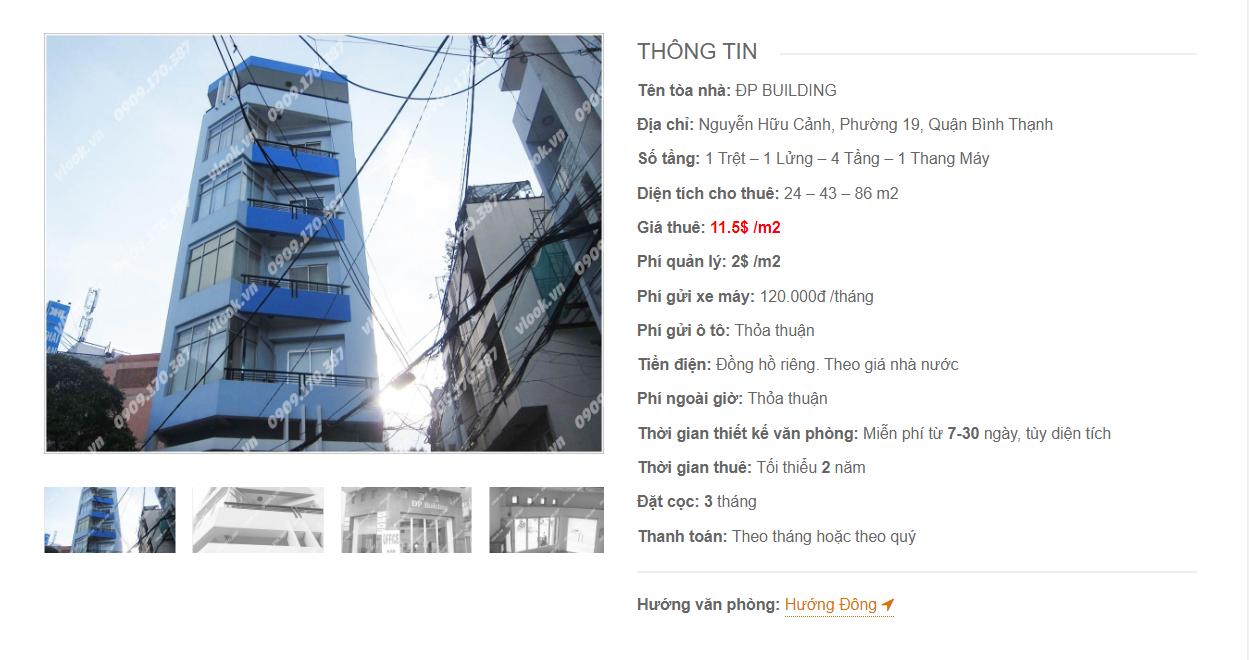 Danh sách công ty tại tòa nhà ĐP Building, Nguyễn Hữu Cảnh, Quận Bình Thạnh