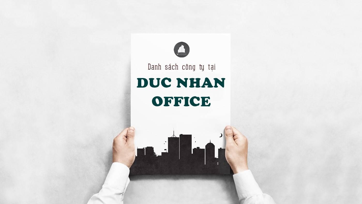 Danh sách công ty tại tòa nhà Đức Nhân Building, Phan Xích Long, Quận Phú Nhuận