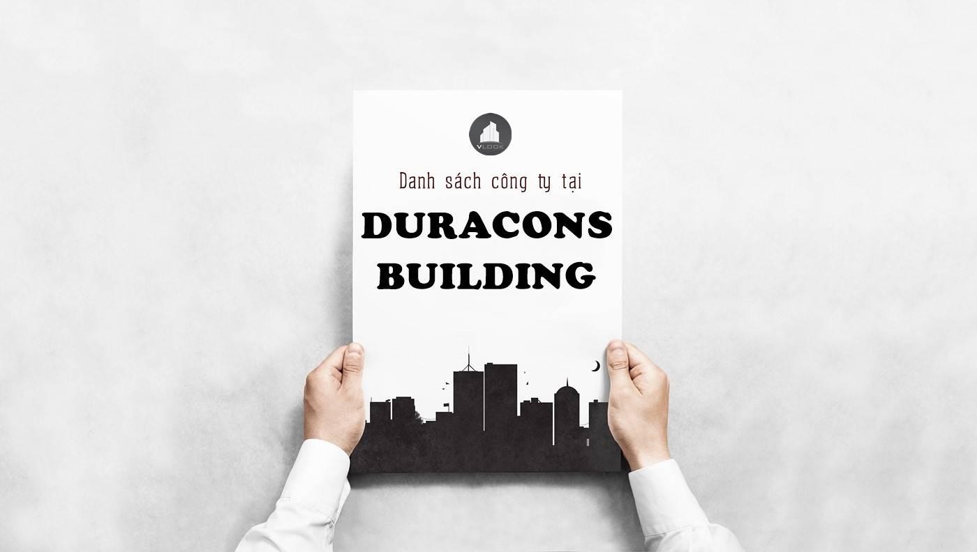 Danh sách công ty tại tòa nhà Duracons Building, Cư Xá Đồng Thới, Quận 11
