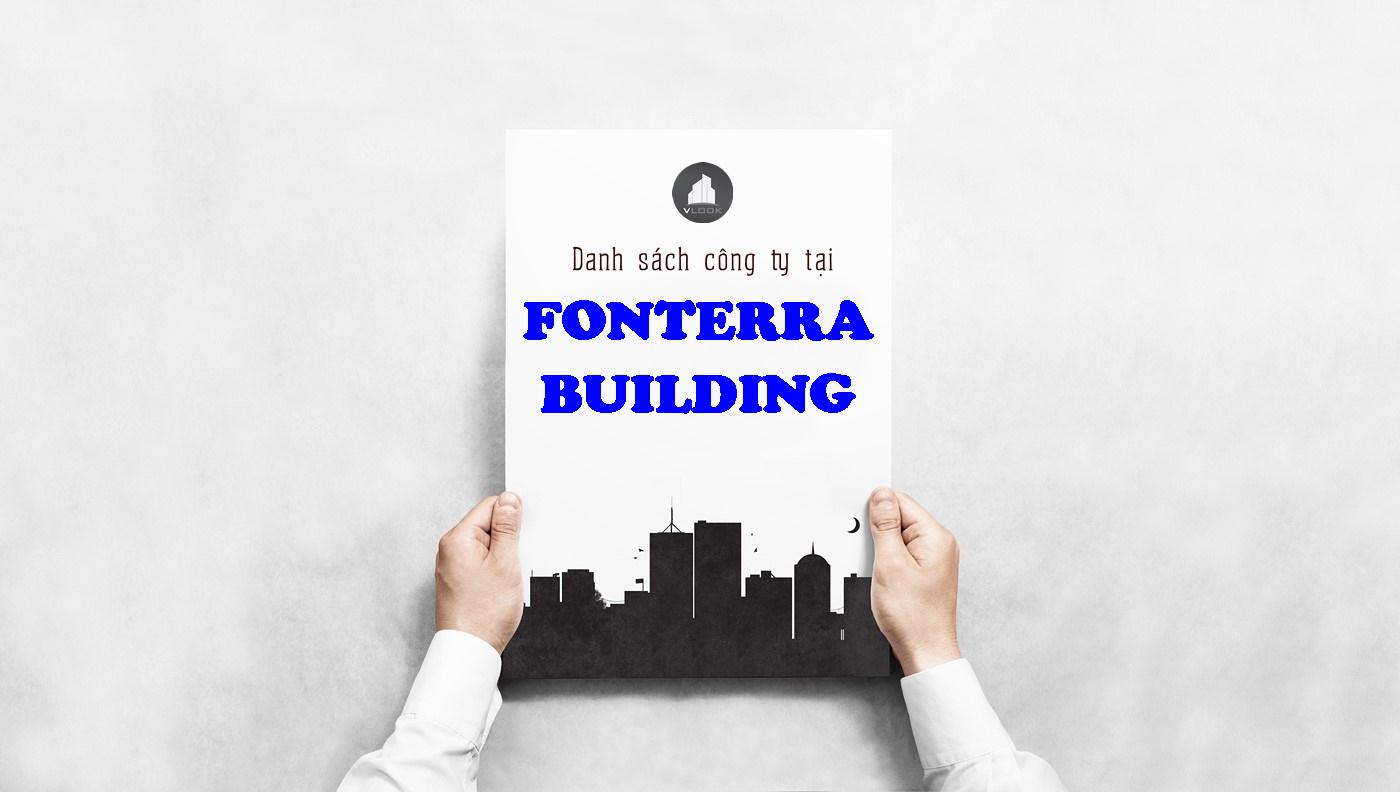 Danh sách công ty tại tòa nhà Fronterra Building Nguyễn Văn Trỗi, Quận Phú Nhuận