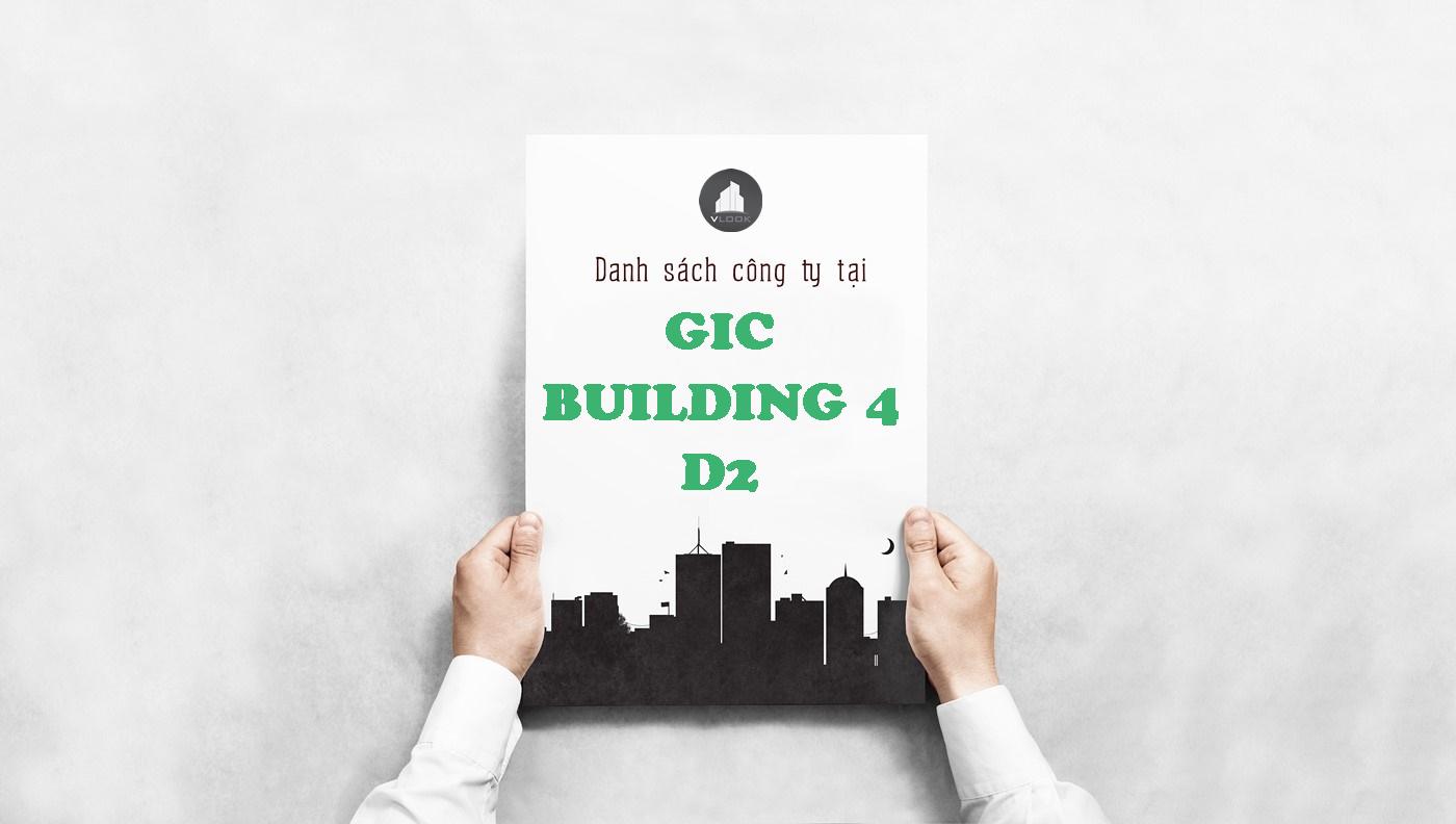 Danh sách công ty tại tòa nhà GIC Building 4 Đường D2, Quận Bình Thạnh