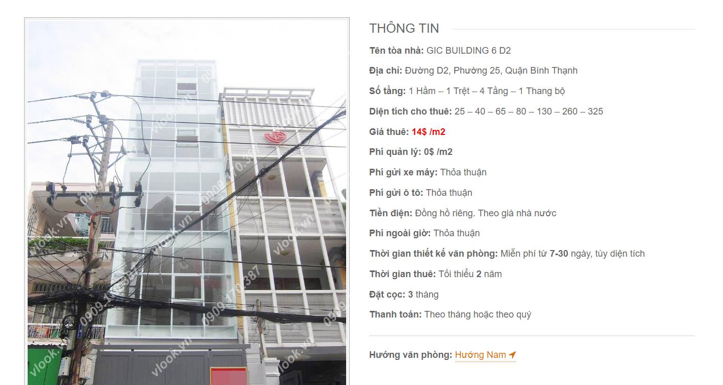 Danh sách công ty tại tòa nhà GIC Building 6 Đường D2, Quận Bình Thạnh