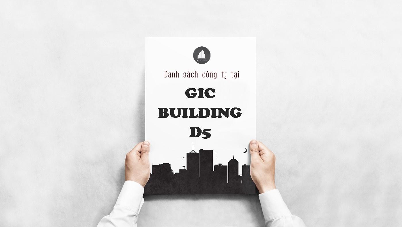 Danh sách công ty tại tòa nhà GIC Building Đường D5, Quận Bình Thạnh