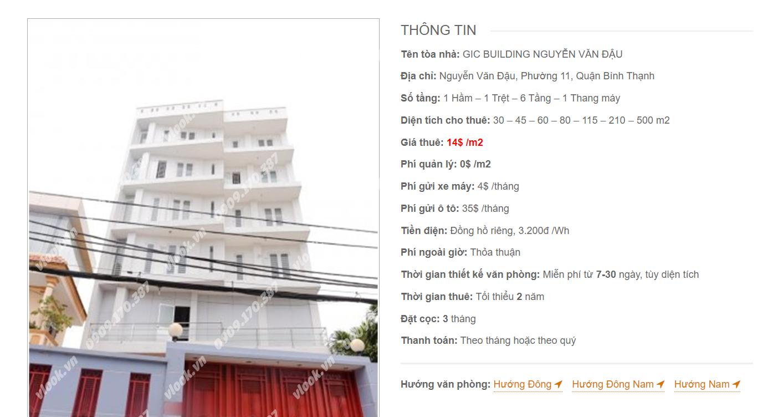 Danh sách công ty tại tòa nhà GIC Building Nguyễn Văn Đậu , Quận Bình Thạnh