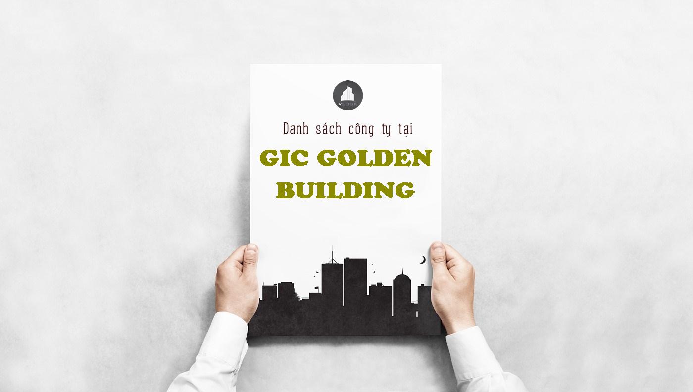 Danh sách công ty tại tòa nhà GIC Golden Building Điện Biên Phủ, Quận Bình Thạnh