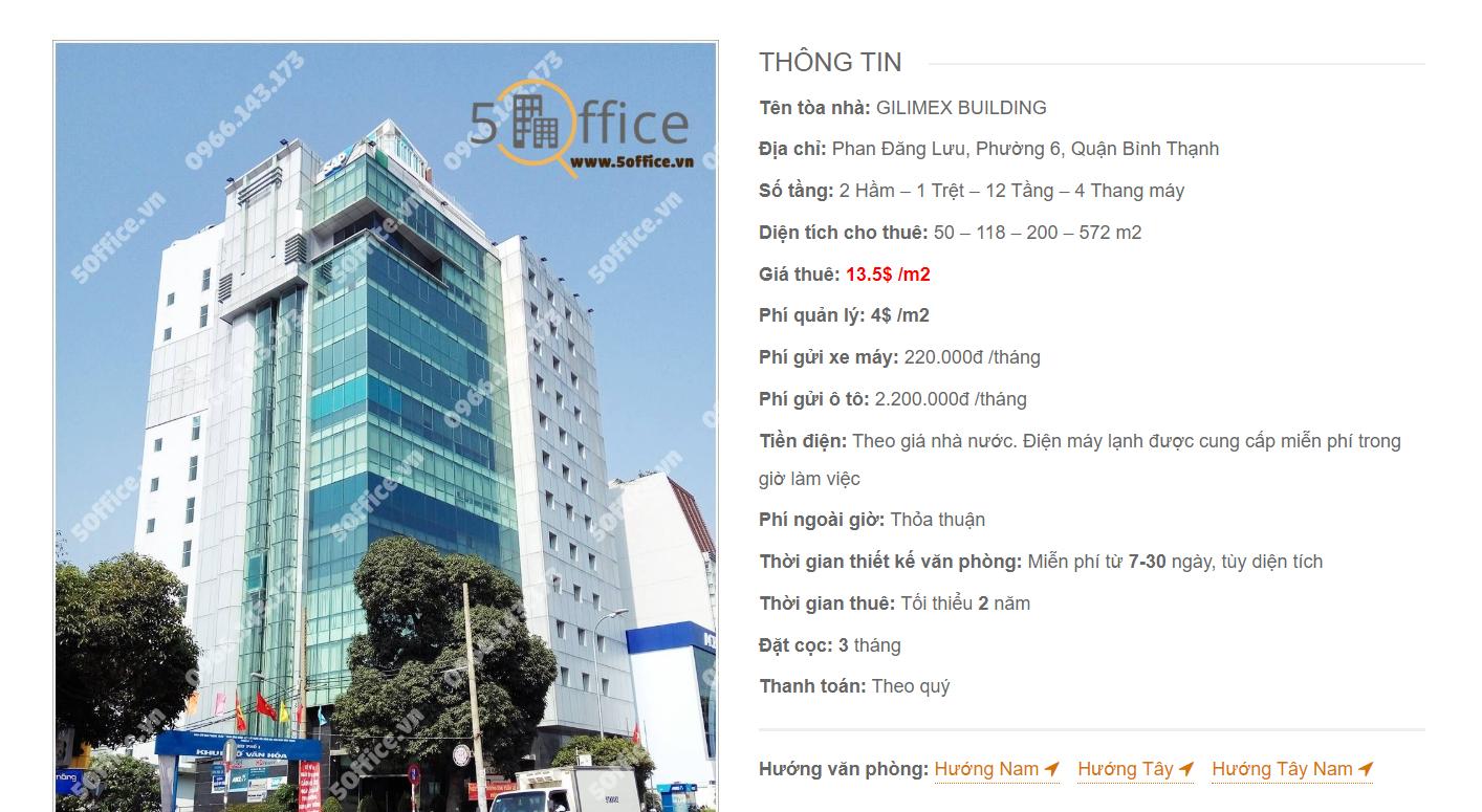 Danh sách công ty tại tòa nhà Gilimex Building Phan Đăng Lưu, Quận Bình Thạnh
