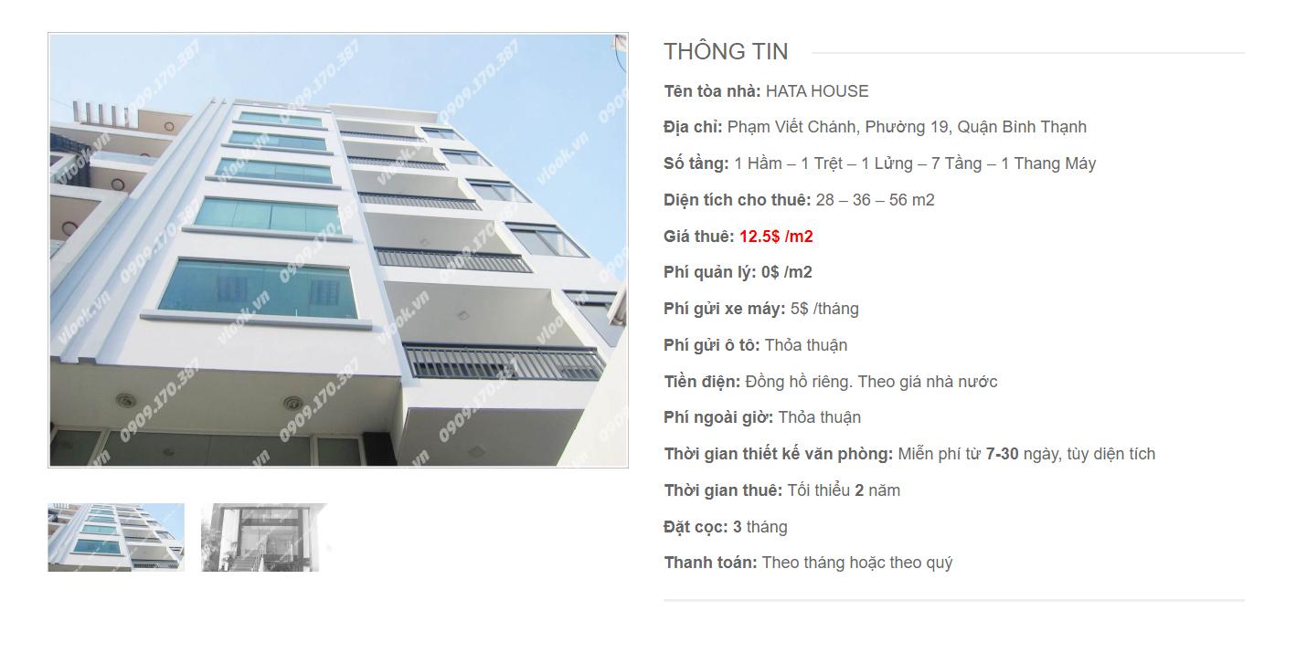 Danh sách công ty tại tòa nhà Hata House, Phạm Viết Chánh, Quận Bình Thạnh