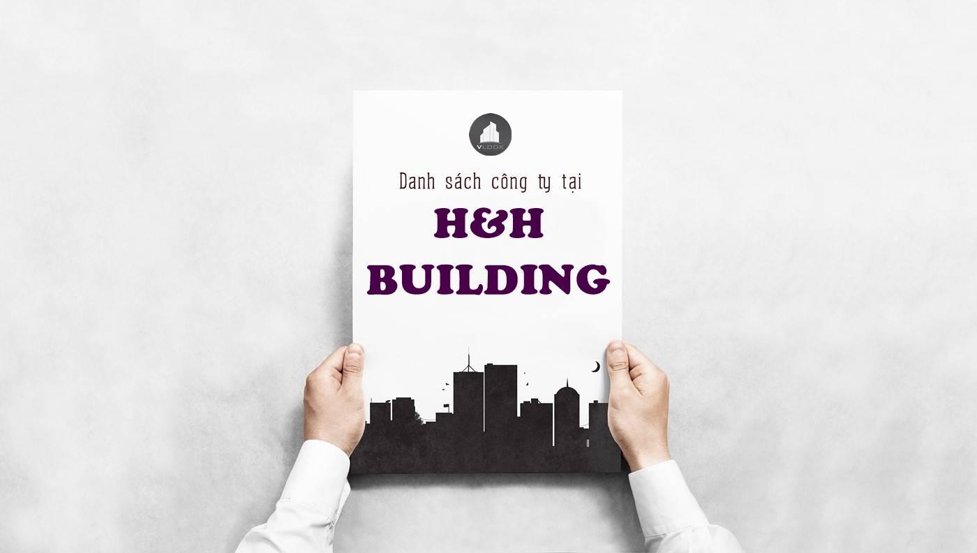 Danh sách công ty tại tòa nhà H&H Building, Hoàng Văn Thụ, Quận Phú Nhuận