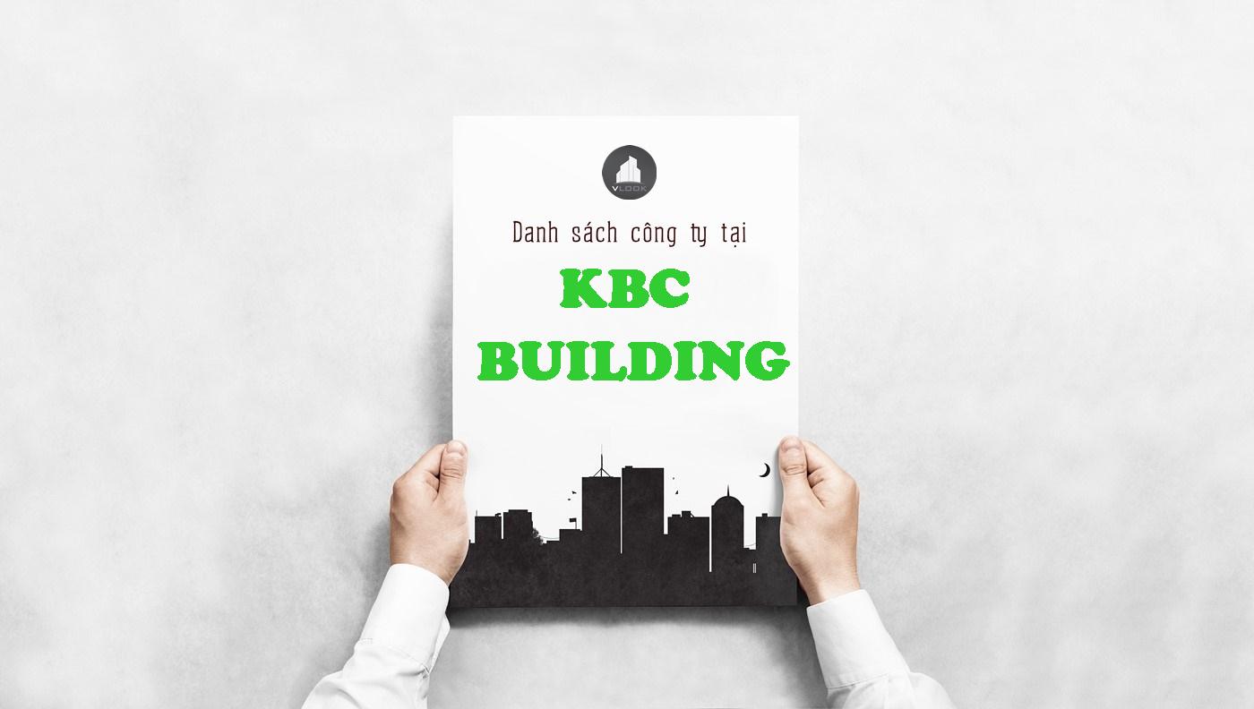 Danh sách công ty tại tòa nhà KBC Building, Đường D3, Quận Bình Thạnh