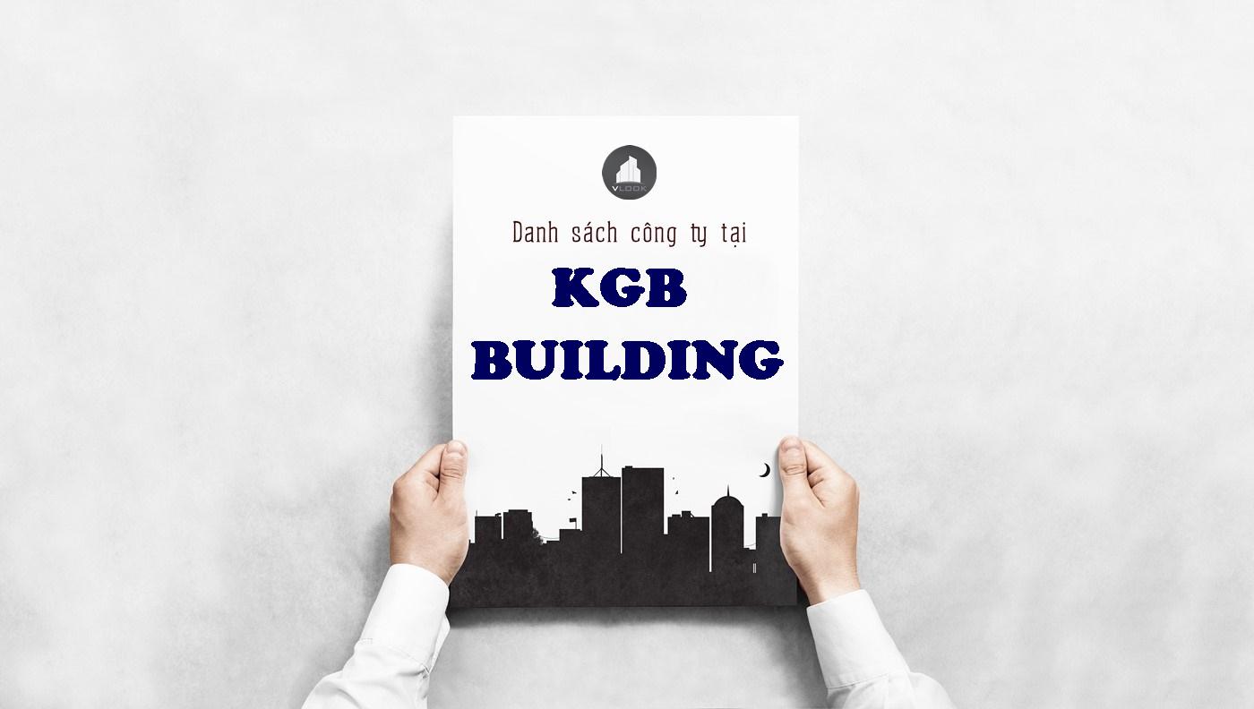 Danh sách công ty tại tòa nhà KGB Building, Nguyễn Xí, Quận Bình Thạnh