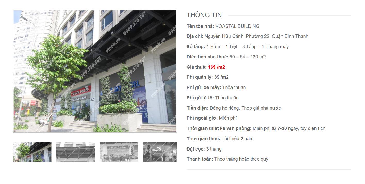 Danh sách công ty tại tòa nhà Koastal Building, Nguyễn Hữu Cảnh, Quận Bình Thạnh