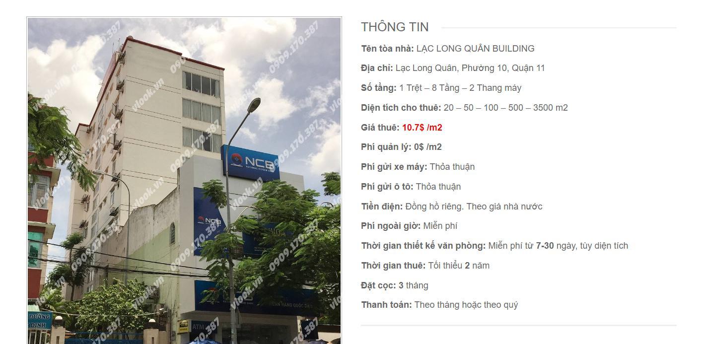 Danh sách công ty tại tòa nhà Lạc Long Quân Building, Quận 11