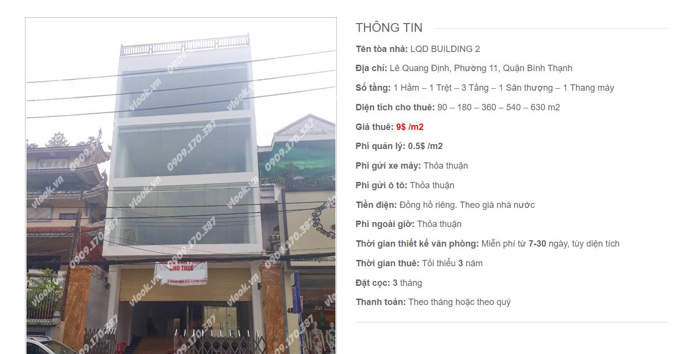 Danh sách công ty tại tòa nhà LQD Building 2, Lê Quang Định, Quận Bình Thạnh