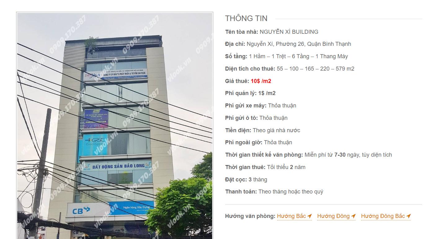 Danh sách công ty tại tòa nhà Nguyễn Xí Building, Quận Bình Thạnh