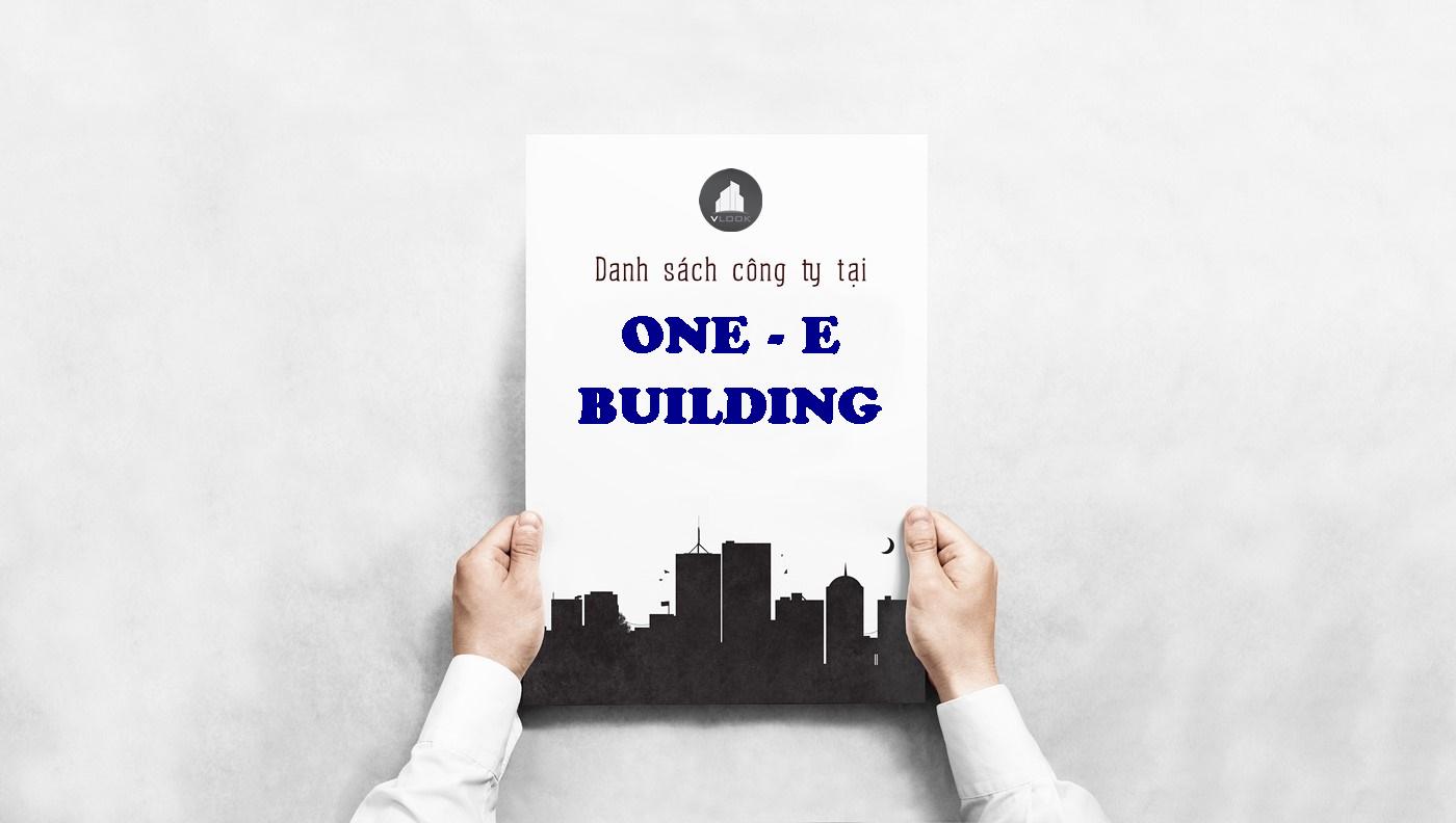 Danh sách công ty tại tòa nhà One-E Building Building, Đinh Bộ Lĩnh, Quận Bình Thạnh