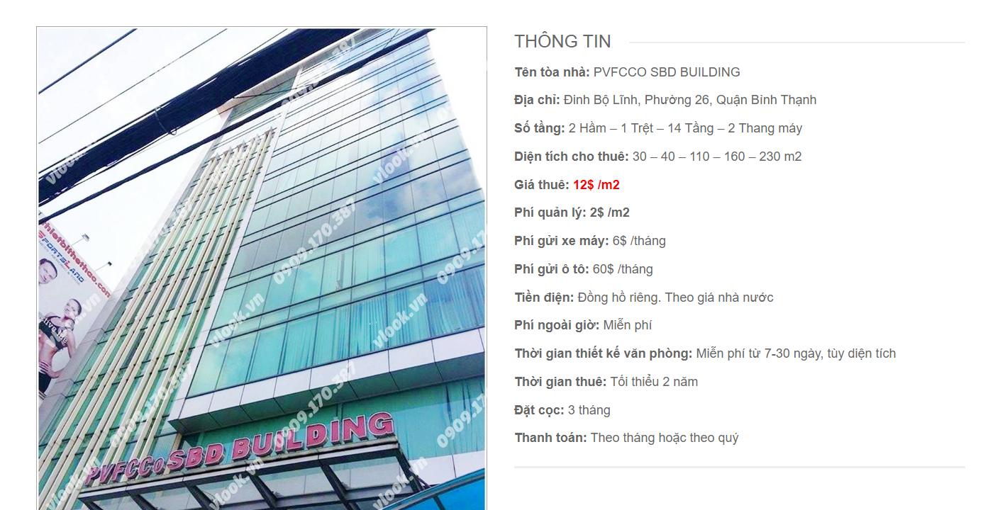 Danh sách công ty tại tòa nhà PVFCCo SBD Building, Đinh Bộ Lĩnh, Quận Bình Thạnh