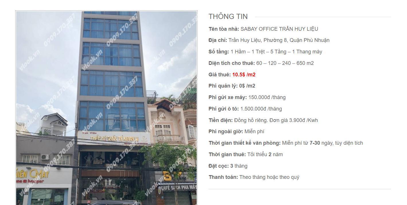 Danh sách công ty tại tòa nhà Sabay Trần Huy Liệu, Quận Phú Nhuận