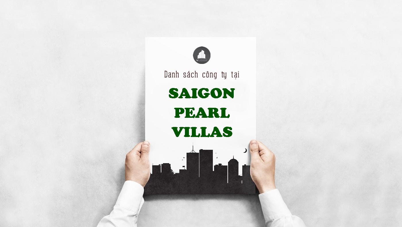 Danh sách công ty tại tòa nhà Saigon Pearl Villas, Nguyễn Hữu Cảnh Quận Bình Thạnh