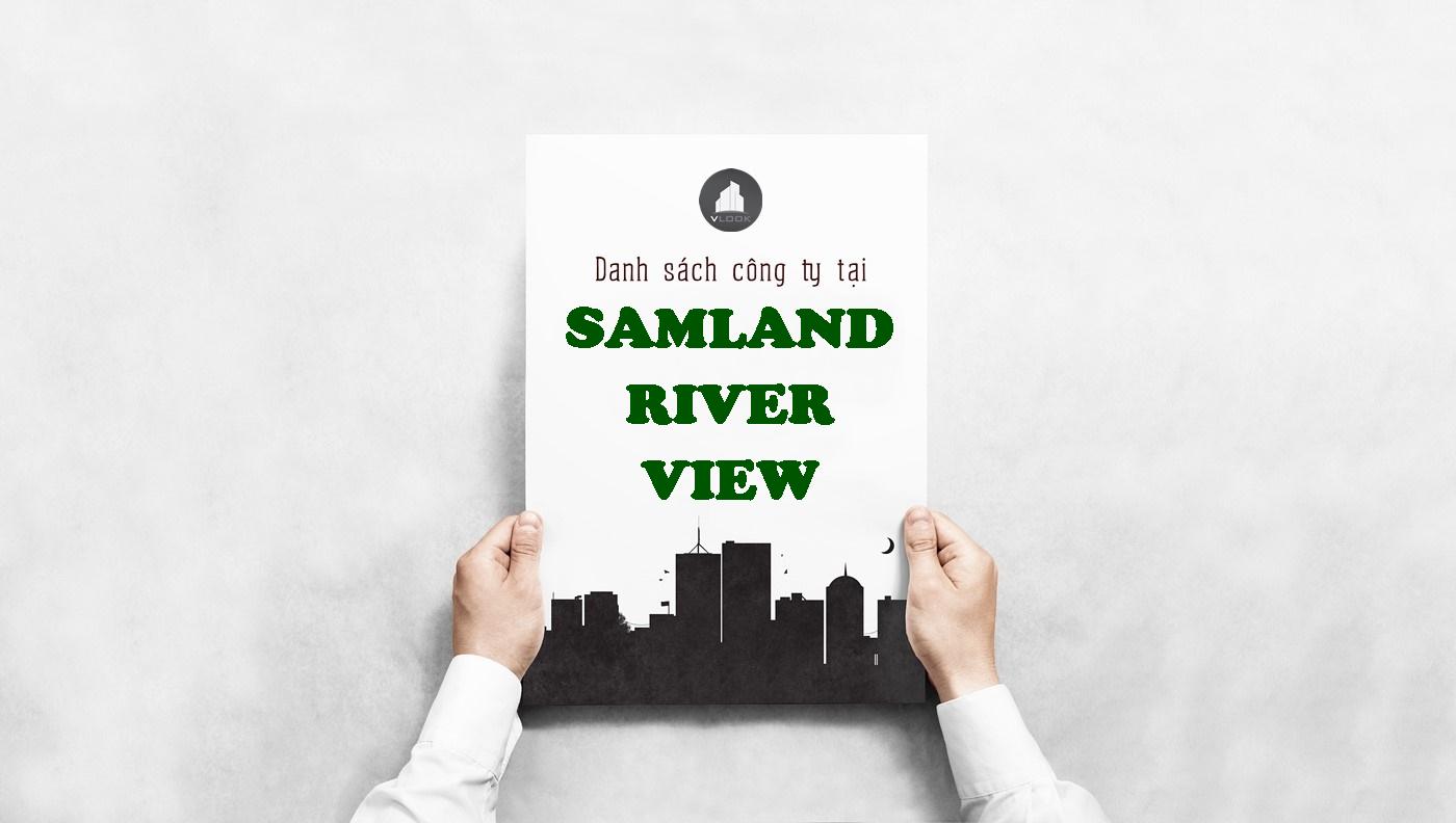 Danh sách công ty tại tòa nhà Samland River View, Quận Bình Thạnh