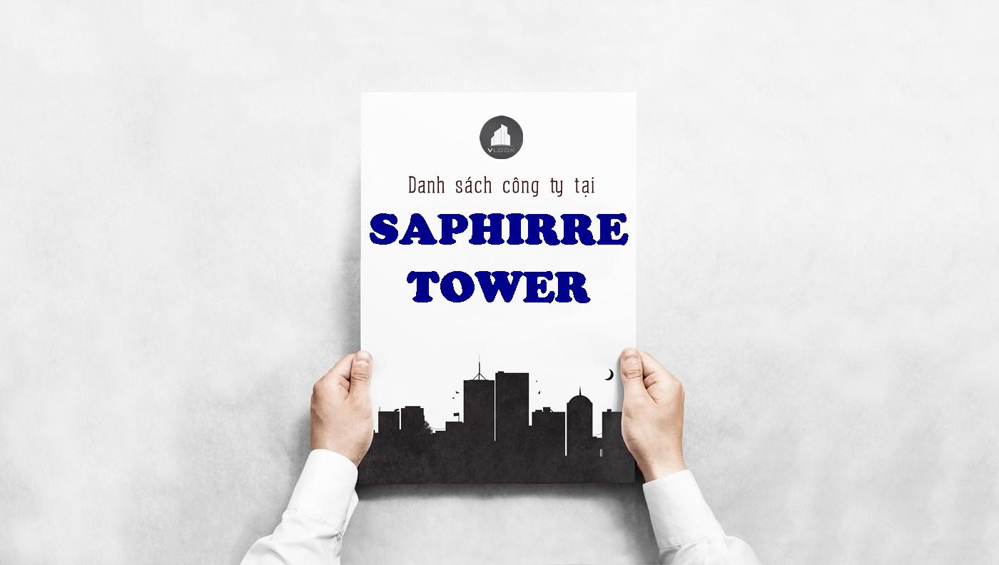 Danh sách công ty tại tòa nhà Sapphire Tower, Nguyễn Văn Trỗi, Quận Phú Nhuận