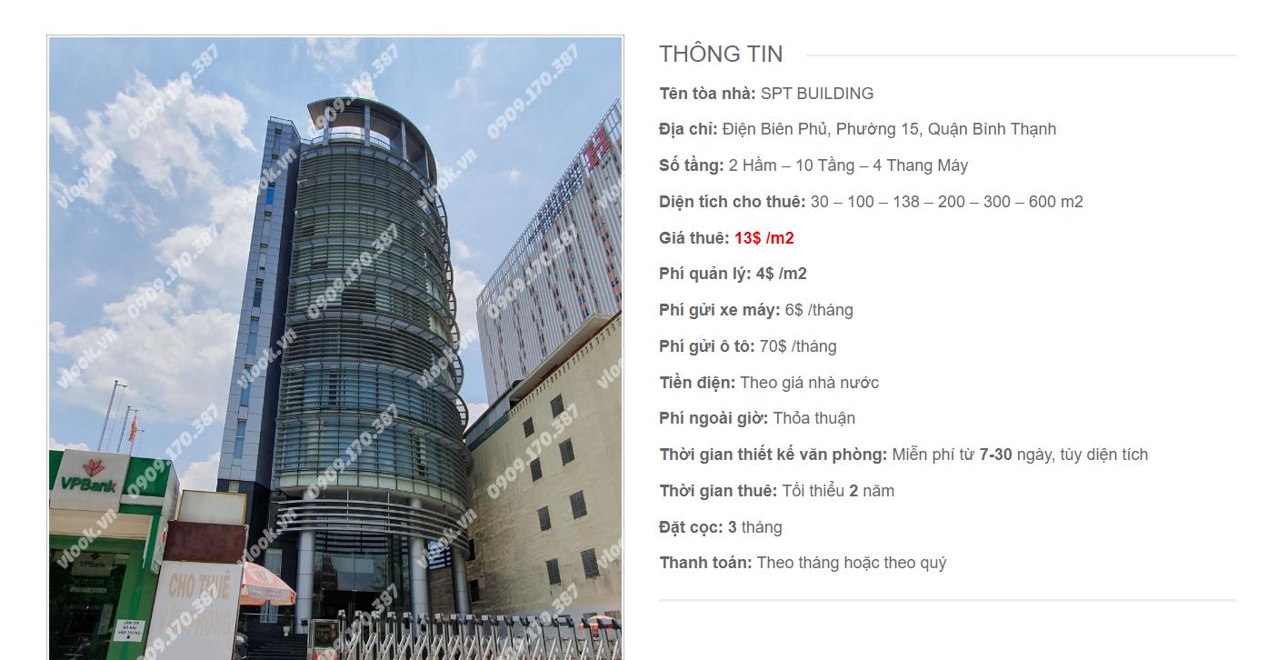 Danh sách công ty tại tòa nhà SPT Building, Điện Biên Phủ, Quận Bình Thạnh