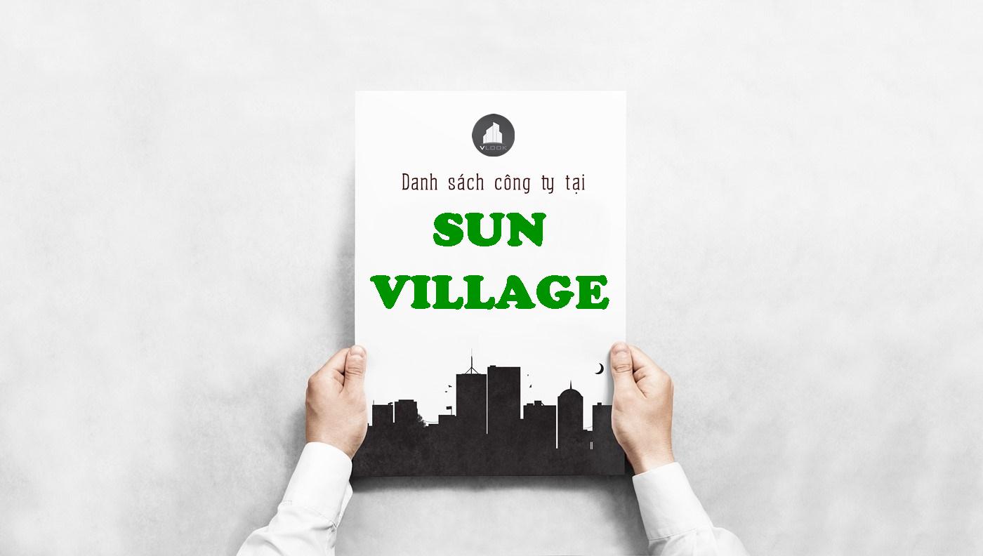 Danh sách công ty tại tòa nhà Sun Village, Nguyễn Văn Đậu, Quận Bình Thạnh