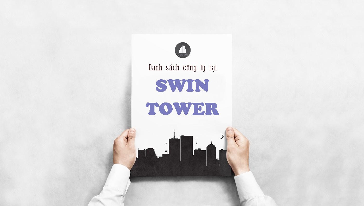 Danh sách công ty tại tòa nhà Swin Tower, Nguyễn Văn Đậu, Quận Bình Thạnh