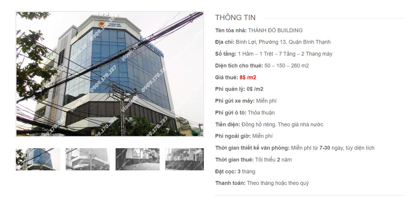 Danh sách công ty tại tòa nhà Thành Đô Building, Bình Lợi, Quận Bình Thạnh