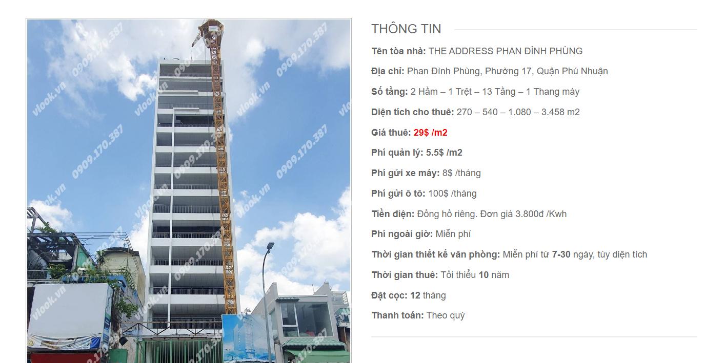 Danh sách công ty tại tòa nhà The Address Phan Đình Phùng, Quận Phú Nhuận