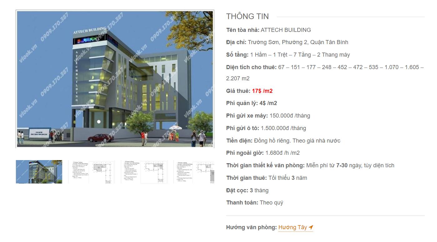 Danh sách công ty tại tòa nhà Attech Building, Trường Sơn, Quận Tân Bình