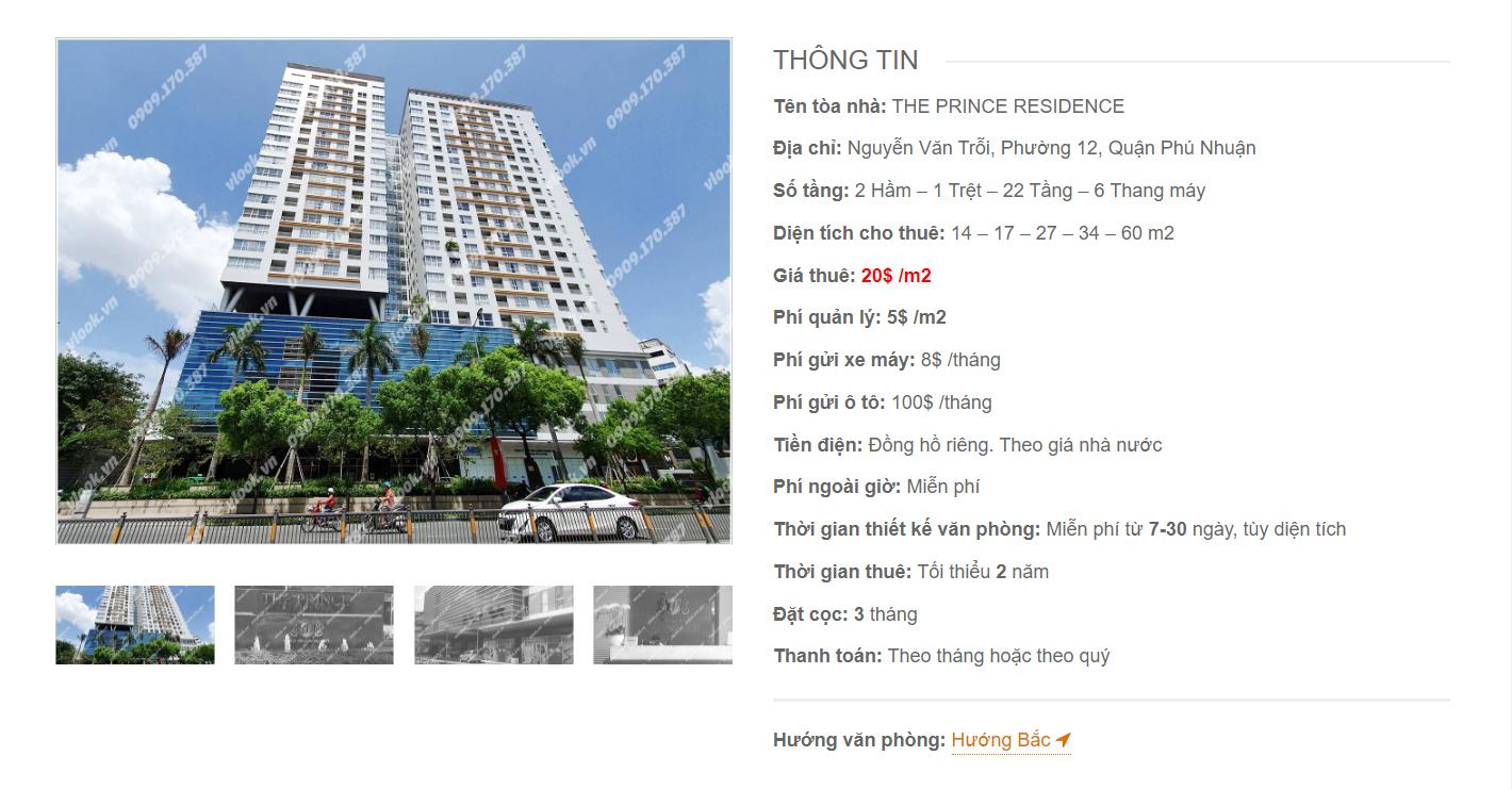 Danh sách công ty tại tòa nhà The Prince Residence, Nguyễn Văn Trỗi, Quận Phú Nhuận