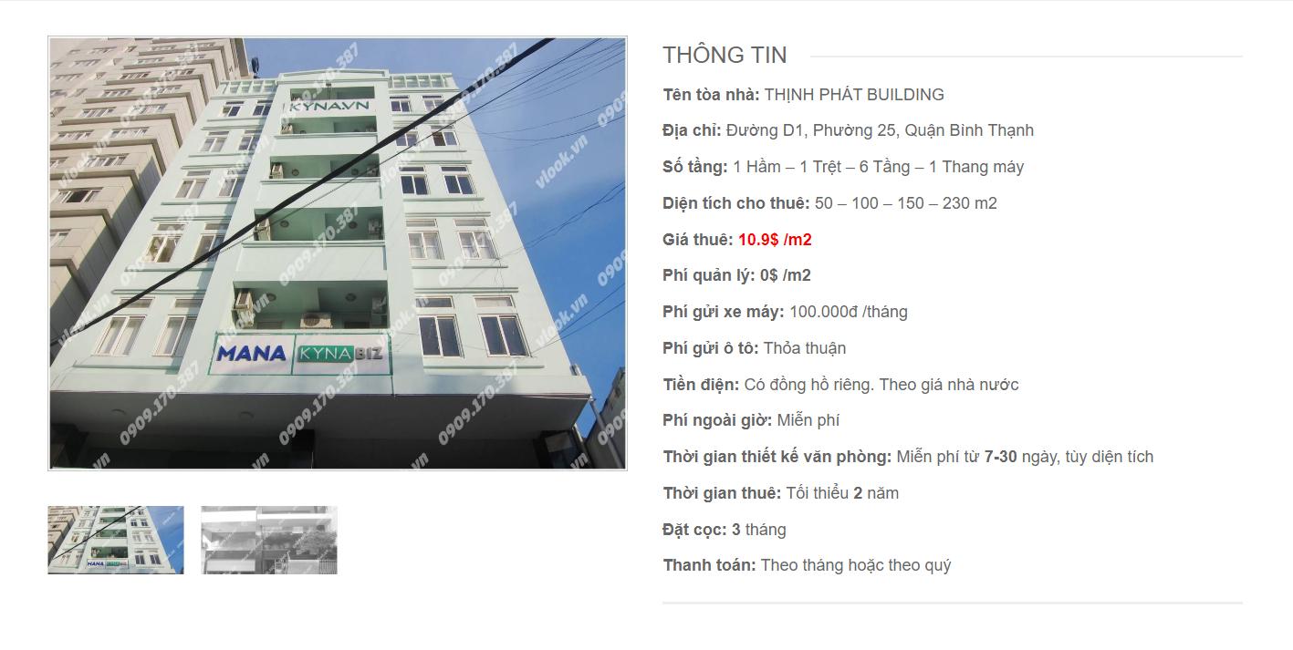Danh sách công ty tại tòa nhà Thịnh Phát Building, Nguyễn Gia Trí, Quận Bình Thạnh