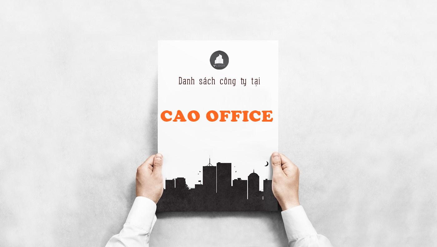Danh sách công ty tại tòa nhà CAO Office, Hậu Giang, Quận Tân Bình
