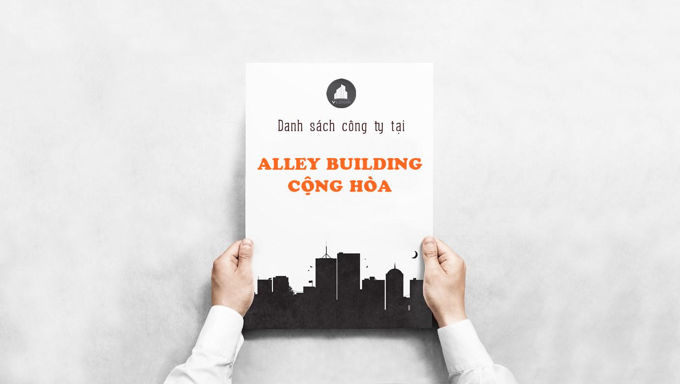 Danh sách công ty tại tòa nhà Alley Building, Cộng Hòa, Quận Tân Bình