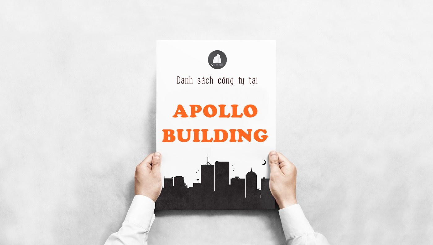 Danh sách công ty tại tòa nhà Apollo Building, Bàu Cát, Quận Tân Bình