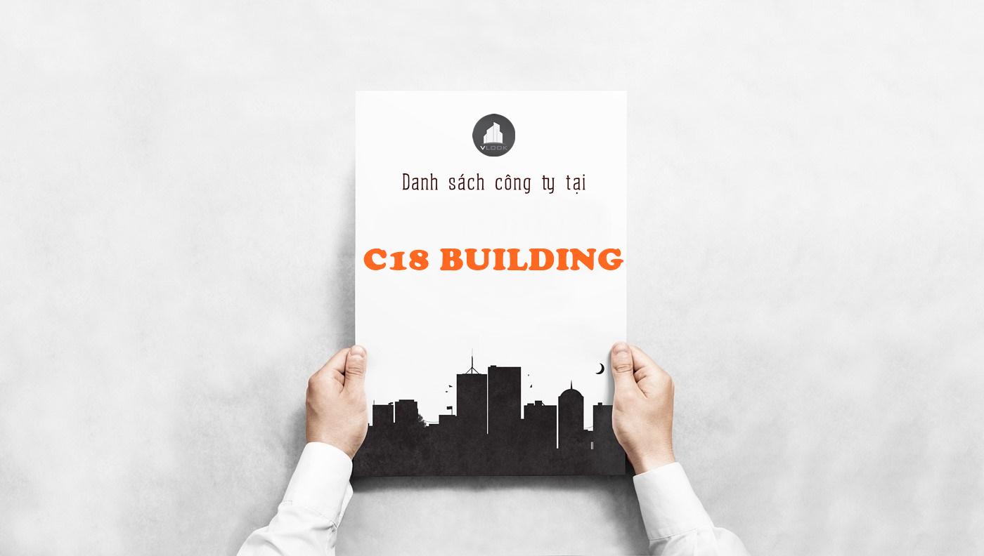 Danh sách công ty tại tòa nhà C18 Building, Đường C18, Quận Tân Bình