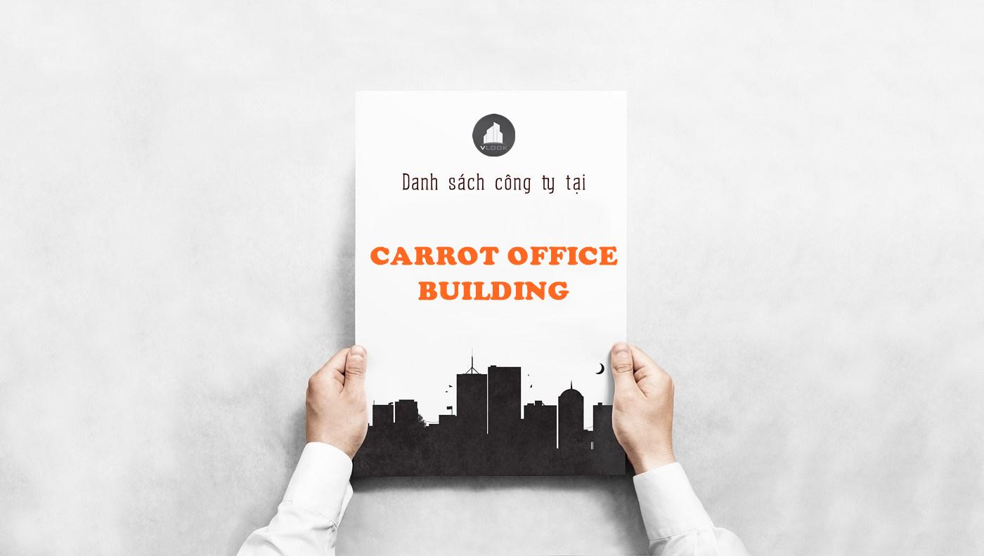 Danh sách công ty tại tòa nhà Carrot Office Building, Nguyễn Đình Khơi, Quận Tân Bình