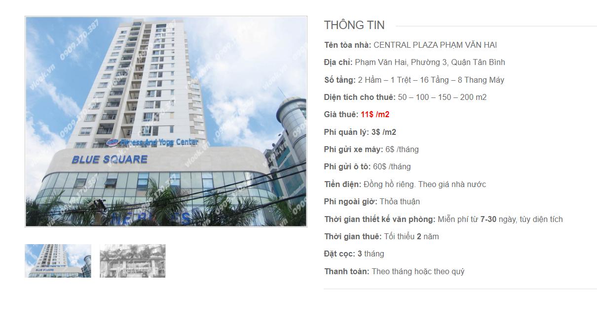 Danh sách công ty tại tòa nhà Central Plaza Phạm Văn Hai, Phạm Văn Hai, Quận Tân Bình