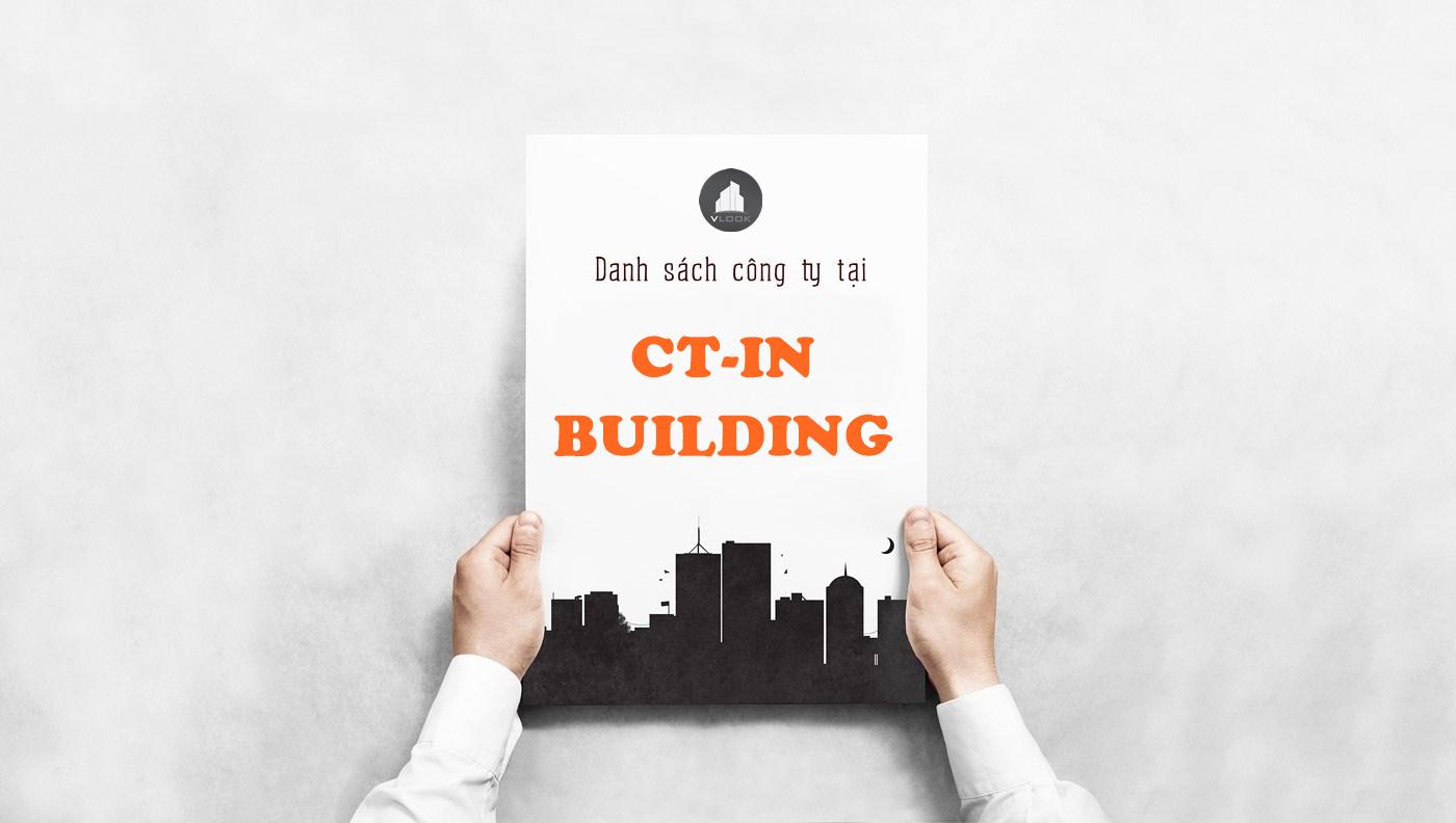 Danh sách công ty tại tòa nhà CT-IN Building, Hoàng Văn Thụ, Quận Tân Bình